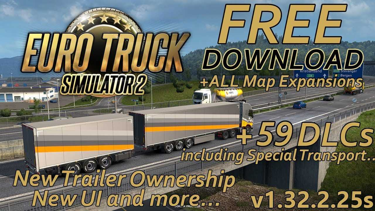 Euro Truck Simulator 2 [1 32 2 25s] + 59 DLCs Free Download