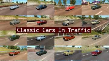 Classic Cars Traffic Pack By Trafficmaniac V20 Mod Euro Truck