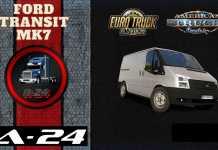 обзор на Мод Ford Transit MK7 v1.0 для ETS 2 и ATS (1.38.x)