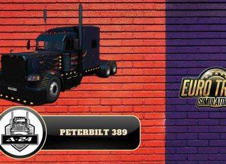 обзор на мод Peterbilt 389 Custom для ETS 2 (1.38.x)