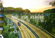 MOD MAP HSM ETS2 V1.30 - V1.36 REWORK GRATIS | HALO SOLO MAP ETS2 | MAP ETS2 INDONESIA