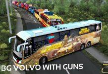 PUB G volvo Bus with guns | Euro Truck Simulator gameplay | ETS Mod