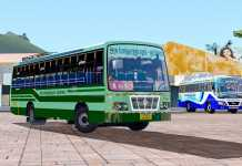 TNSTC v2 Bus Test Drive on jawa Tamil version map | Ets2 gameplay