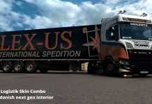 ets 2 scania next gen v8 open pipe LEX-US Logistik Skin Combo dutch trucker mario