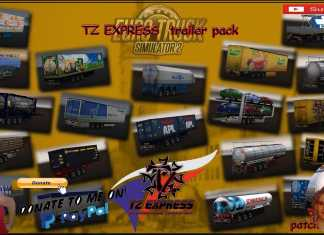Euro Truck Simulator 2 (1.39) ETS2 TZ Trailers pack (1.39.x) With Owned First Look + DLC's & Mods