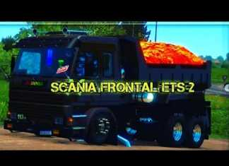 SCANIA FRONTAL VERMELHA QUALIFICADA NO ETS 2 MOD PRÉVIA DO ROLÊ
