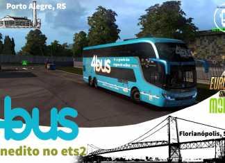 ETS 2 MOD BUS/ VAMOS DE 4 BUS Porto Alegre, /P Florianópolis, SC INVICTUS DD VEM COMIGO NESSA SKIN I